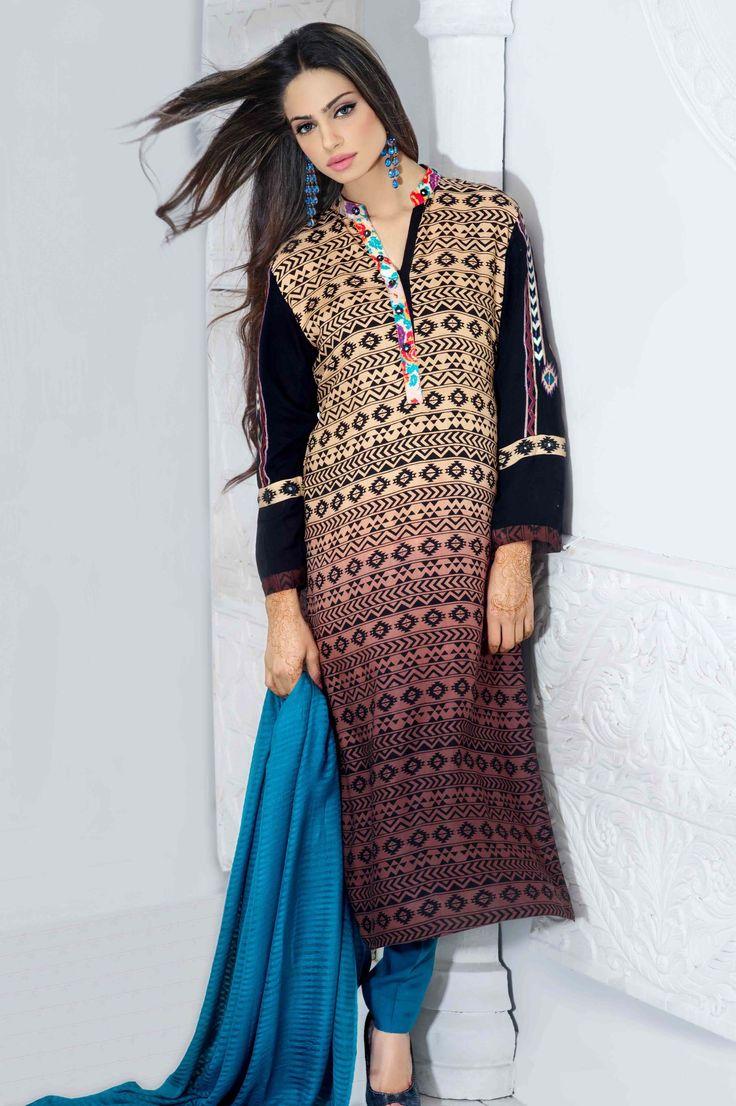 Sky Blue Tribal Print Linen Suit