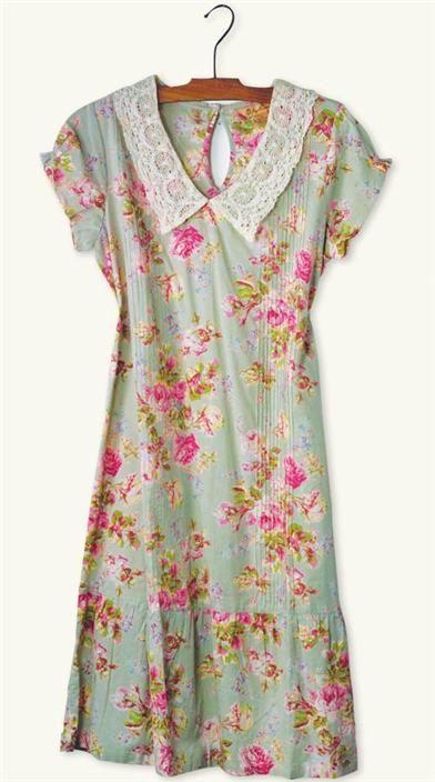 APRIL CORNELL VICTORIA DRESS - Vintage Cotton Floral Dress. Perfect breezy summer dress!