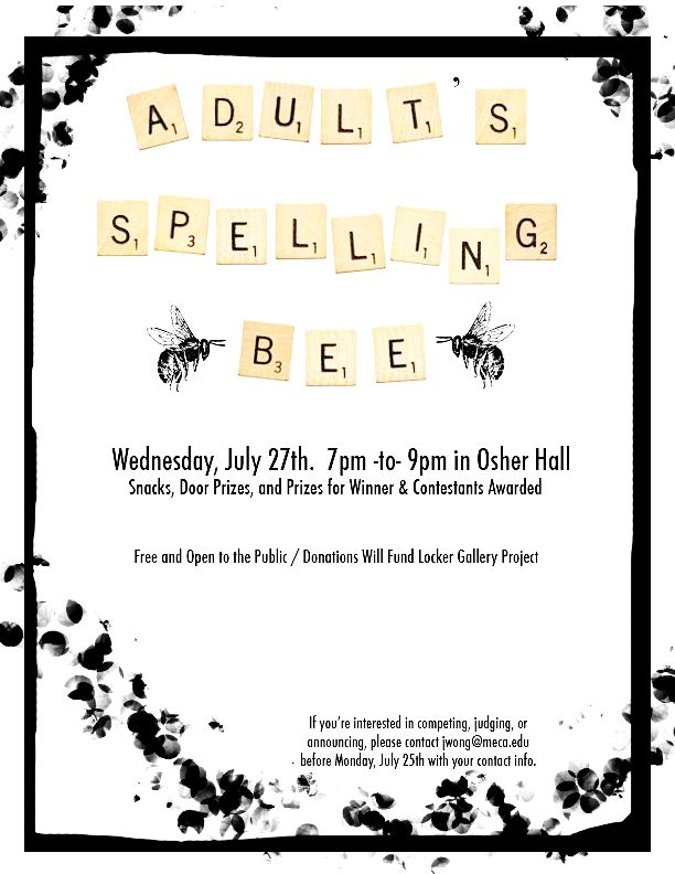 Adult Spelling Bee-like the scrabble tiles