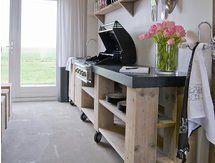 De beste kookkunsten in een (buiten)keuken van steigerhout! Steigerhouten buitenkeukens   dutchwood.nl (Tip)