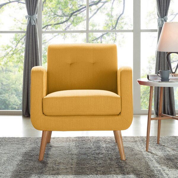 Lend Any Arrangement A Modern Inspired Touch With This Lounge Chair The Frame Of This Piece Is Cr Most Comfortable Office Chair Mid Century Accent Chair Chair