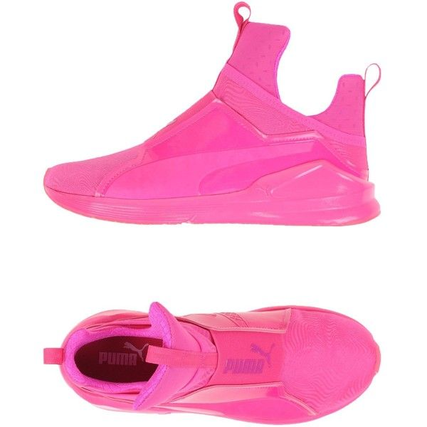 Puma Low-tops & Trainers ($105) ❤ liked on Polyvore featuring shoes, sneakers, fuchsia, low top, round toe sneakers, puma footwear, fuchsia shoes and puma trainers