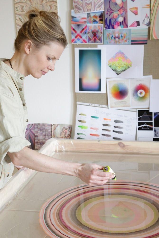 Suminagashi Marbling, Pernille Snedker Hansen, Snedker° Studio.
