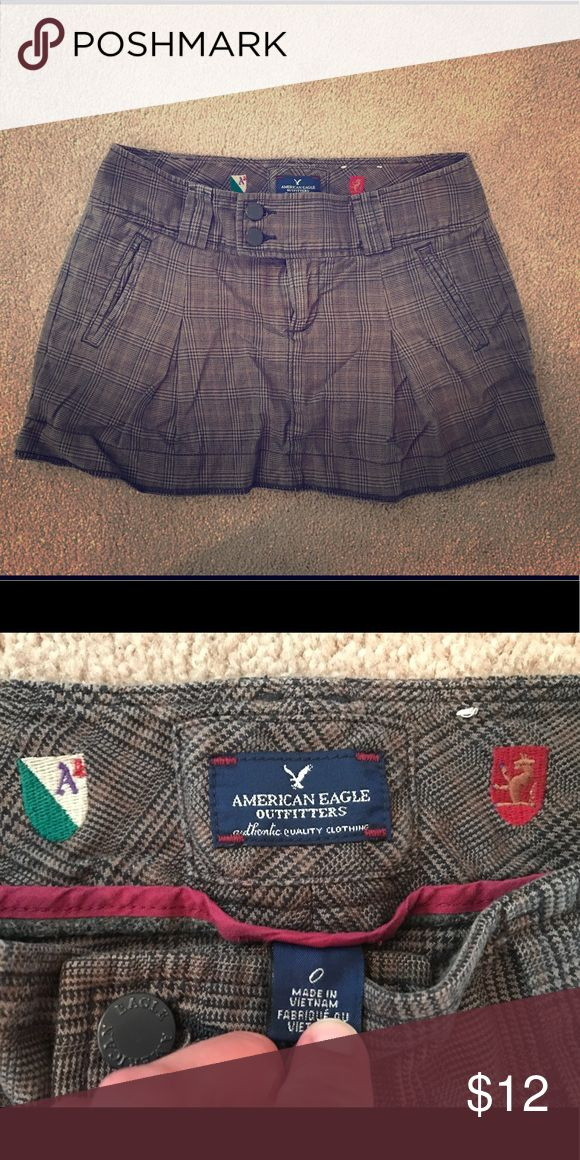 American Eagle Outfitters Mini Plaid and pleated. Schoolgirl style. Gently used and in great condition. Inspected for flaws. Nonsmoking home. American Eagle Outfitters Skirts Mini