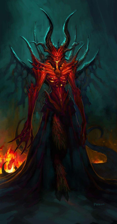 Diablo, demon art, drawing, red hell | devil, fantasy art ...