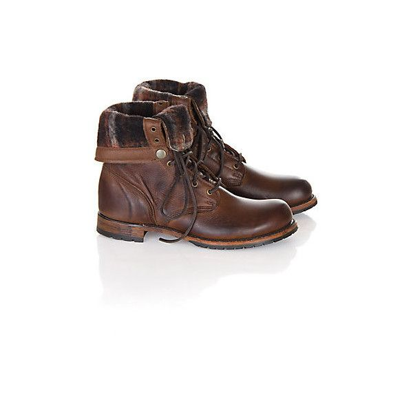 Men's Walk-Over Ian Fold-Over Leather Jump Boots (425 CAD) ❤ liked on Polyvore featuring men's fashion, men's shoes, men's boots, mens shoes, mens leather ankle boots, men's fold over boots, ankle boots mens shoes and mens military style boots