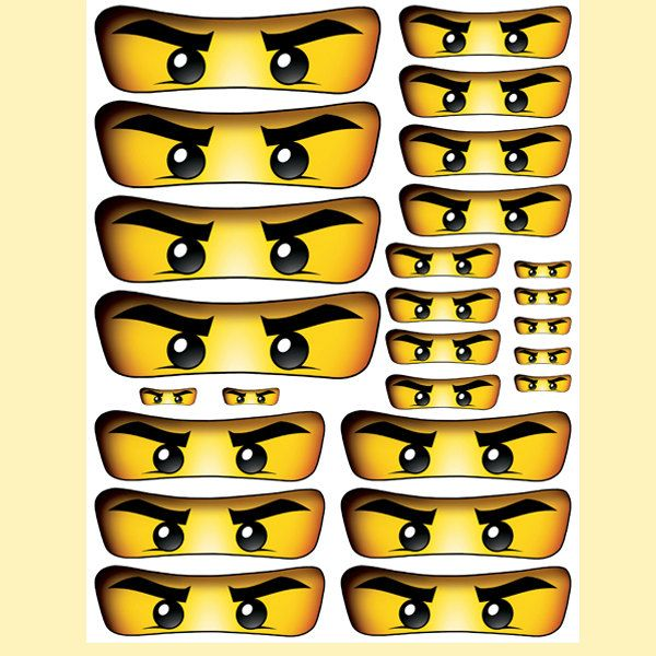 instant download ninjago eyes 5 sizes for balloon