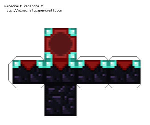 Minecraft Papercraft Enchantment Table