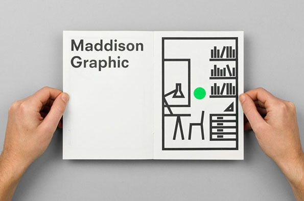 'Maddison Graphic are a Norwich-based agency who pride themselves on working with local clients, embracing all sorts of commercial projects for the likes of ale festivals, architectural practices and churches. Their output is consistently strong, answering briefs with clear, effective solutions. This charming mailer, used to advertise the relocation of the studio, perfectly exemplifies their visual nous, communicating clearly & concisely with a beautifully reductive selection of graphic…