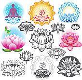 Clip Art - set, van, tropische bloemen k12699157 - Zoek Clipart, Illustratie Posters, Tekeningen en EPS Vector Grafische Beelden - k12699157.eps