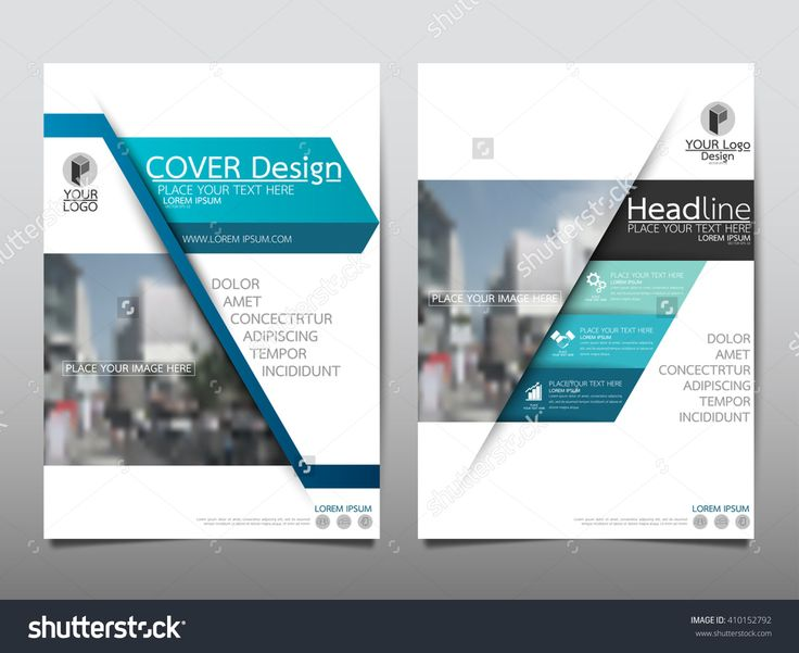 Blue Annual Report Brochure Flyer Design Template Vector, Leaflet Cover Presentation Abstract Flat Background, Layout In A4 Size - 410152792 : Shutterstock