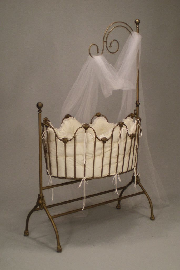 Dynasty Iron Cradle with Netting Rig - Aged Gold  - Made in the USA, available in 22 different finishes!