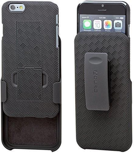 iPhone 6S / 6 Case Aduro COMBO Shell & Holster Case [Lifetime Warranty] Super Slim Shell Case w/ Built-In Kickstand  Swivel Belt Clip Holster for Apple iPhone 6S / 6