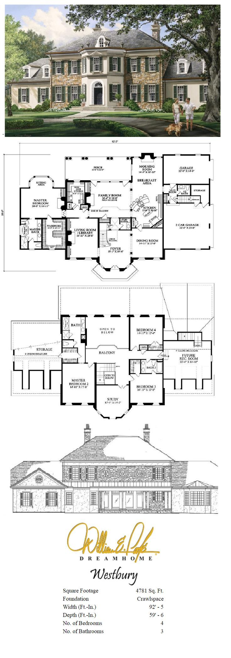 Westbury Perspective with Plans