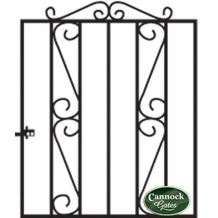 Clifton Wrought Iron Garden Gate from Cannock Gates