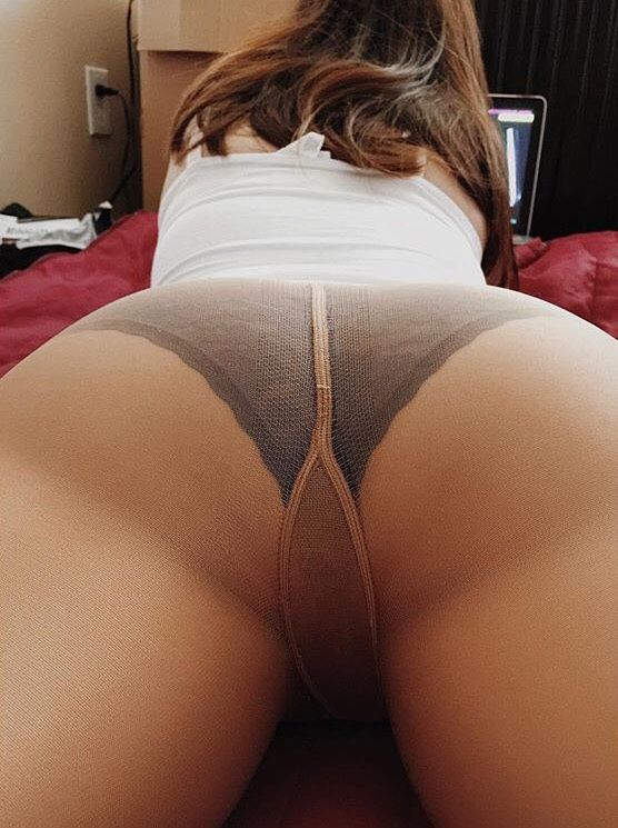 pantyhose under White panties