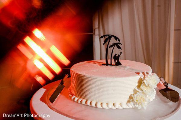 Palm tree cake topper | Playacar Palace #destinationwedding
