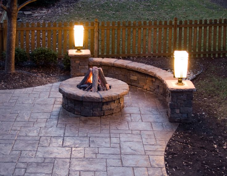 Nice Inspired Stamped Concrete Patio Method Kansas City Traditional Patio  Decorating Ideas With Gas Fire Pit Outdoor