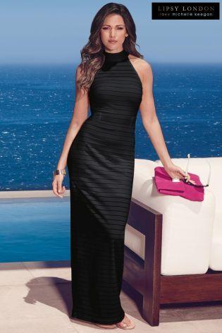 Michelle Keegan Stripe Maxi Dress