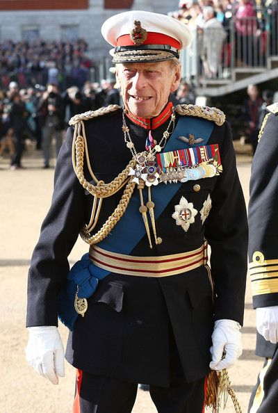zimbio:  Duke of Edinburgh attended The Royal Marines 350th Anniversary Beating Retreat at The Royal Horseguards, London, June 4, 2014.