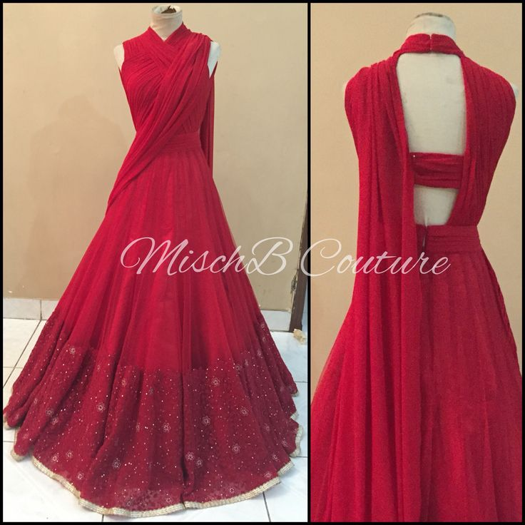 Draped Anarkali by MischB Couture