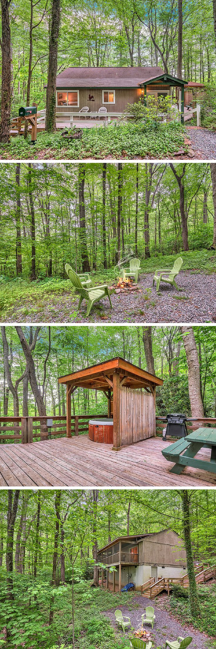 Grand Cabin Rental with Hot Tub and Stone Fire Place near ...