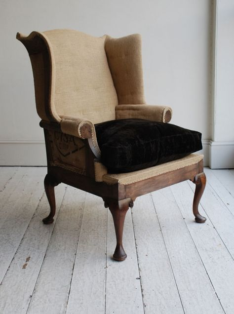QUEEN ANNE STYLE WING CHAIR Deconstructed - Howe
