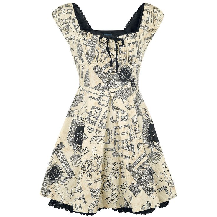 Marauder's Map - Kurzes Kleid von Harry Potter