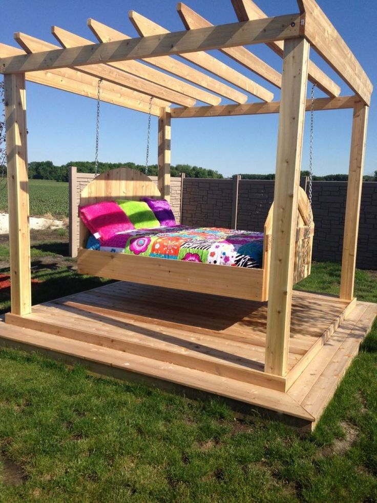 best 25 outdoor swing beds ideas on pinterest decks. Black Bedroom Furniture Sets. Home Design Ideas