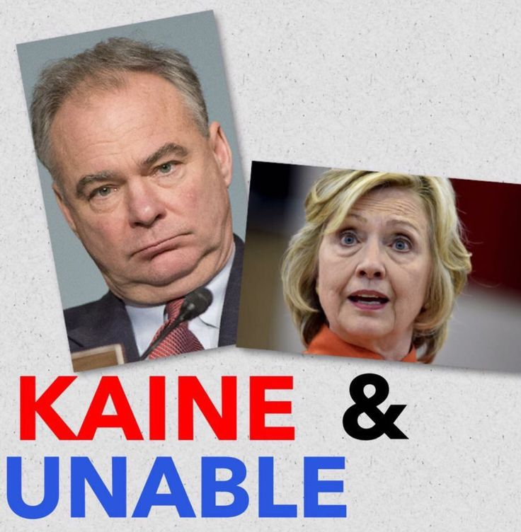 Corrupt Kaine and Crooked Hillary * these people do not need to be in charge of our Country *