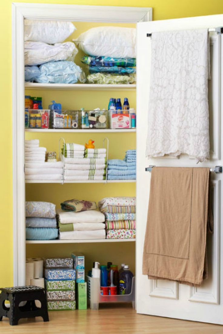 61 best chic organised closets linen images on Organizing your home