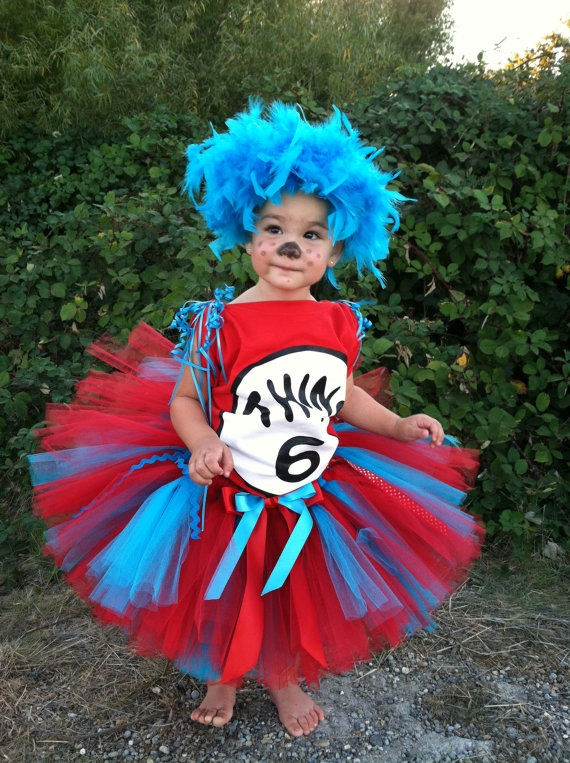 Thing 1 Thing 2- Dr. Seuss Cat In the Hat Tutu |