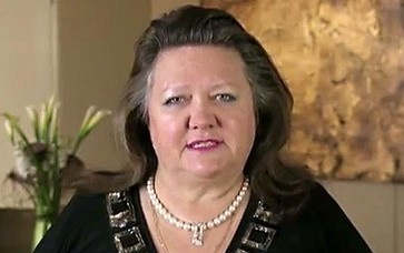 "Gina Rinehart Calls For Sterilization of The Poor May. 28, 2013. Conservative billionaire Gina Rinehart called for the sterilization of the poor today, arguing that the only way to alleviate poverty is to stop the ""underclasses"" from multiplying."