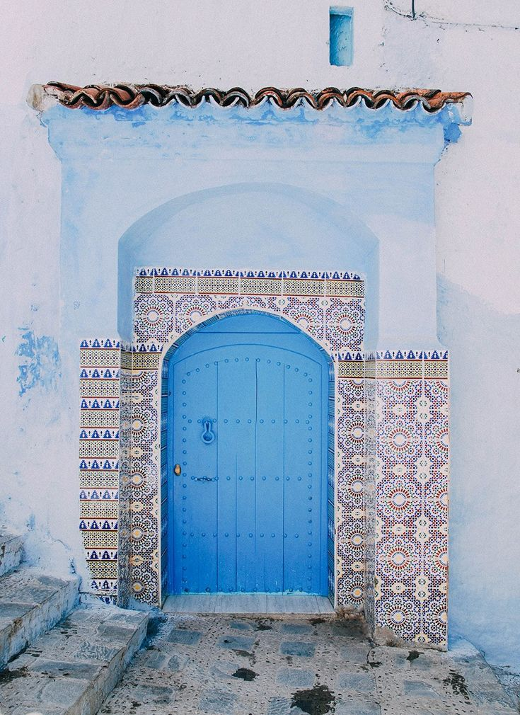 """Laucht found the ancient city using very modern means. """"I actually discovered Chefchaouen through someone I follow on Instagram—I ended up going down a total geo-tag rabbit hole,"""" she says. """"I was planning a trip to Morocco at the time and considering all the big names like Marrakech, Fez, Casablanca. I'd never heard of Chefchaouen and was so intrigued by this little town painted entirely in blue. I have a thing for blue hues, so it was a kind of a match made in heaven!"""""""