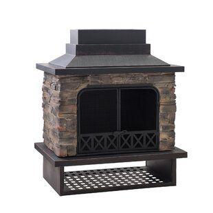 Canora Grey Quillen Steel Wood Burning Outdoor Fireplace ... on Quillen Steel Wood Burning Outdoor Fireplace id=86231