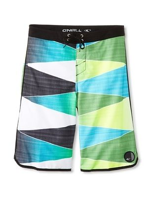 53% OFF O'Neill Boy's 8-20 Averted Board Short with Epic Stretch (Green)