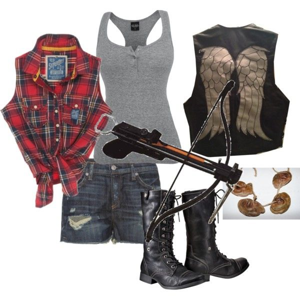 Fem!Daryl Dixon cosplay, created by timey-wimey-consulting-hunter on Polyvore