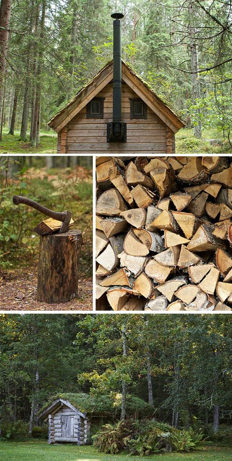 cabins and wood. cabins and wood!