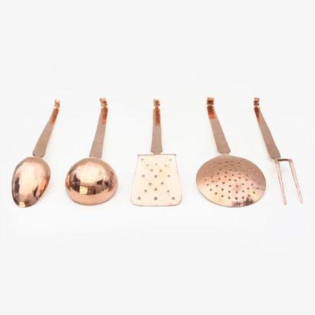 Copper Kitchen Utensils Set by Segno Italiano