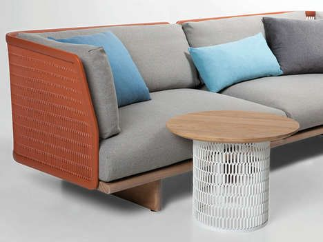 Industrial Outdoor Furniture - The Metal Mesh Garden Sofa by Patricia Urquiola Filters Light (TrendHunter.com)