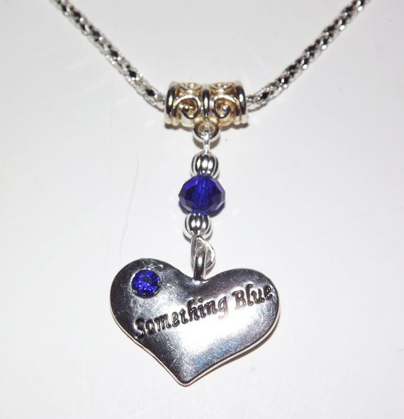 Something Blue Heart Necklace FREE UK P&P  Pagan / by KasumiCrafts