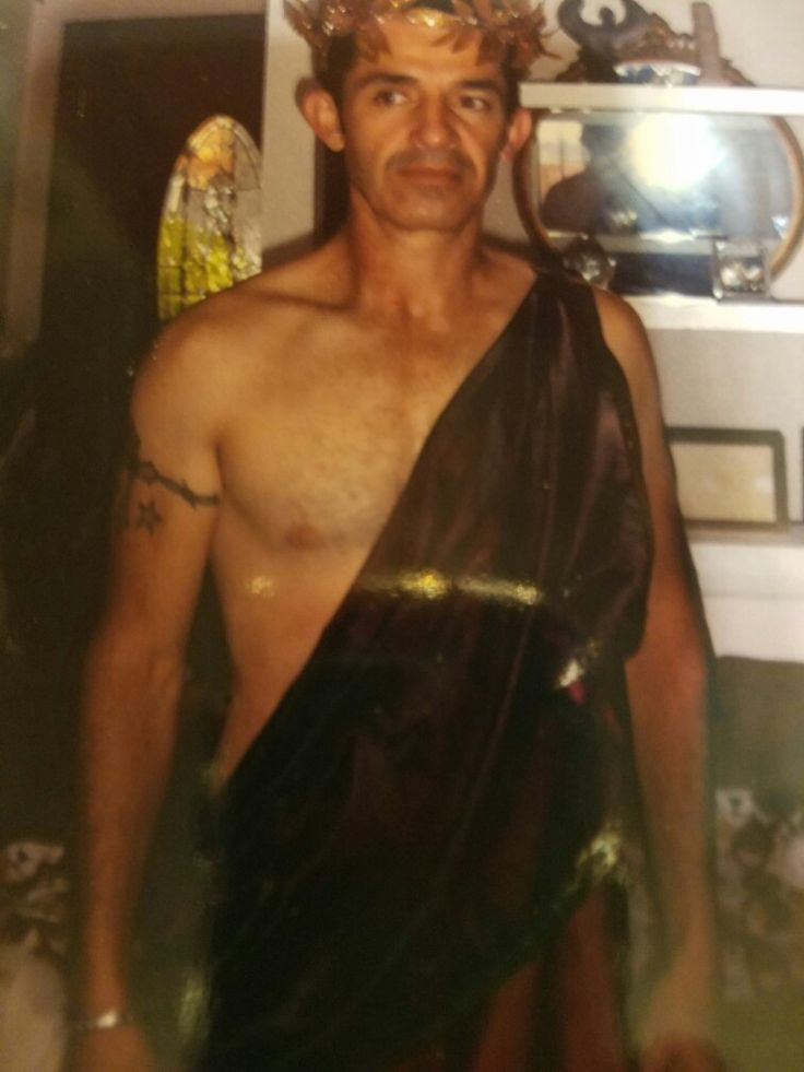 Wearing the Greek toga