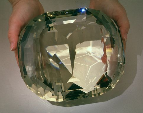 """The """"American Golden Topaz"""" which is of Brazilian origin, and resides in the Natural History Museum of the Smithsonian Institution, at Washington DC, is the largest faceted golden topaz and perhaps the largest faceted gemstone of anykind in the world."""
