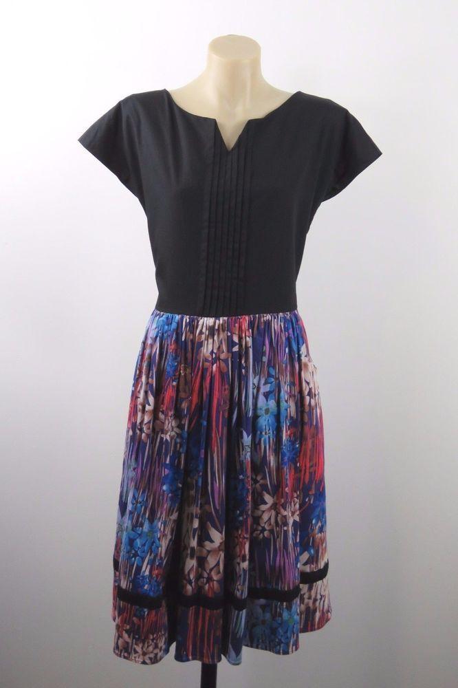 Size S 10 Petra Vanessie Ladies Dress Floral Feminine Vintage Boho Chic Design #PetraVanessie #ALineDress #Casual
