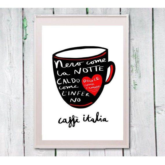 Cita Italiana De Cafe Cocina Impresion Arte Arte De Pared De