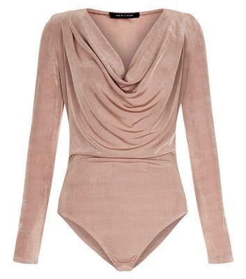 Pink Cowl Neck Long Sleeve Bodysuit | New Look