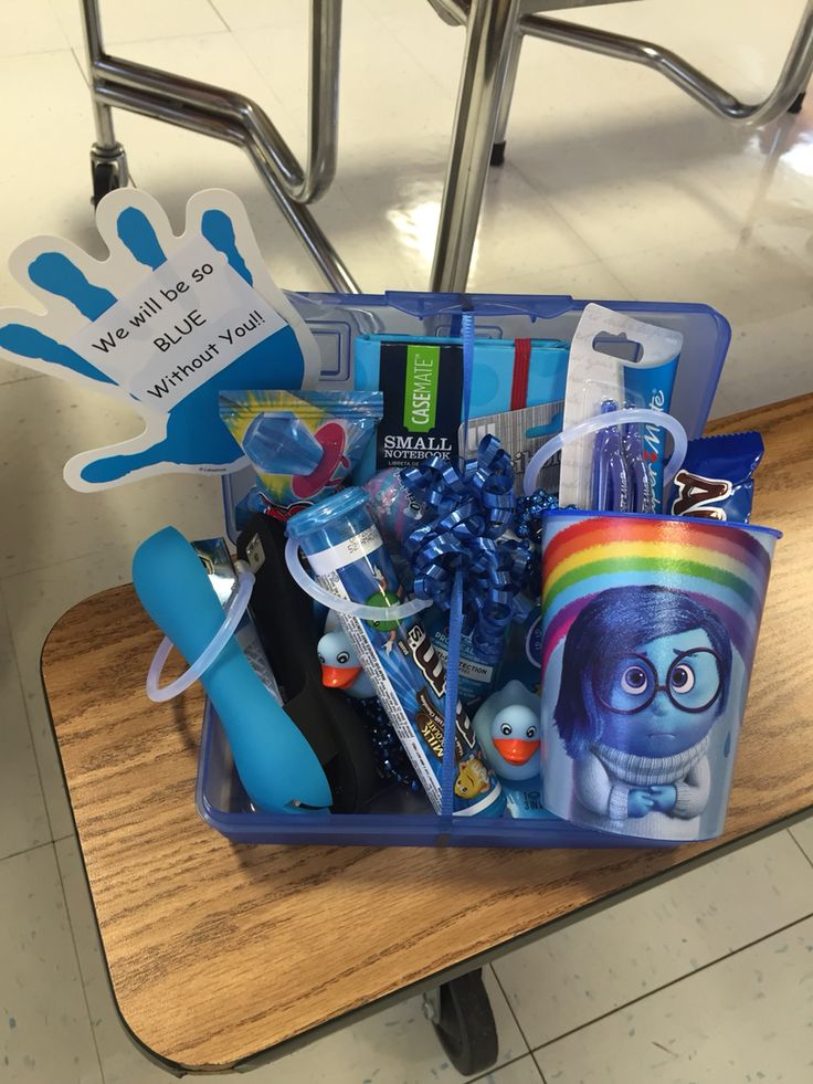 We will be blue without you. Going away gift for my boss. She loved it!!
