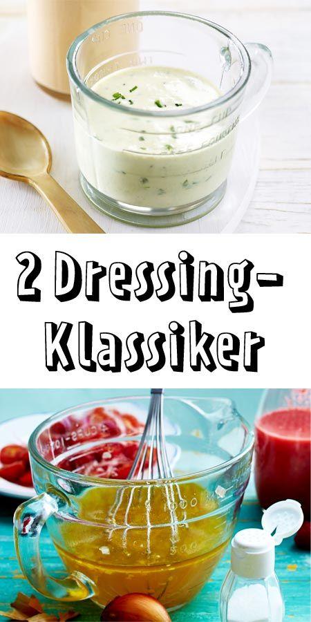 Grundrezepte für Vinaigrette und Joghurtdressing