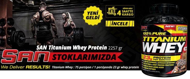 San Titanium Whey Protein Tozu