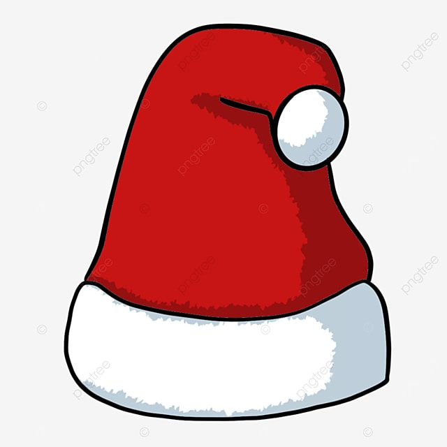 Festive Red Hat With White Pompom Christmas Hat Snowflake Christmas Hat Illustration Png Transparent Clipart Image And Psd File For Free Download Christmas Hat Red Hats Christmas Tree With Gifts